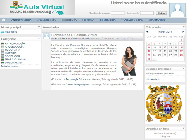 Aula Virtual de la FCCSS