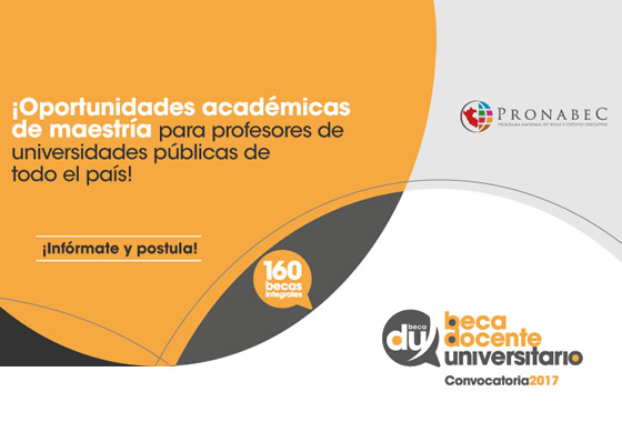 Convocatoria Beca Docente Universitario 2017
